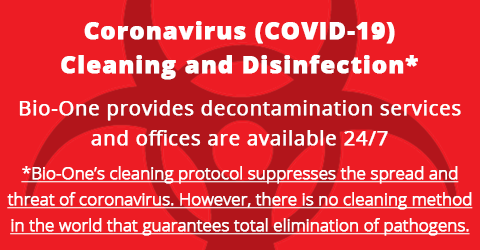 Coronavirus cleaning and disinfection in St Paul, Minnesota