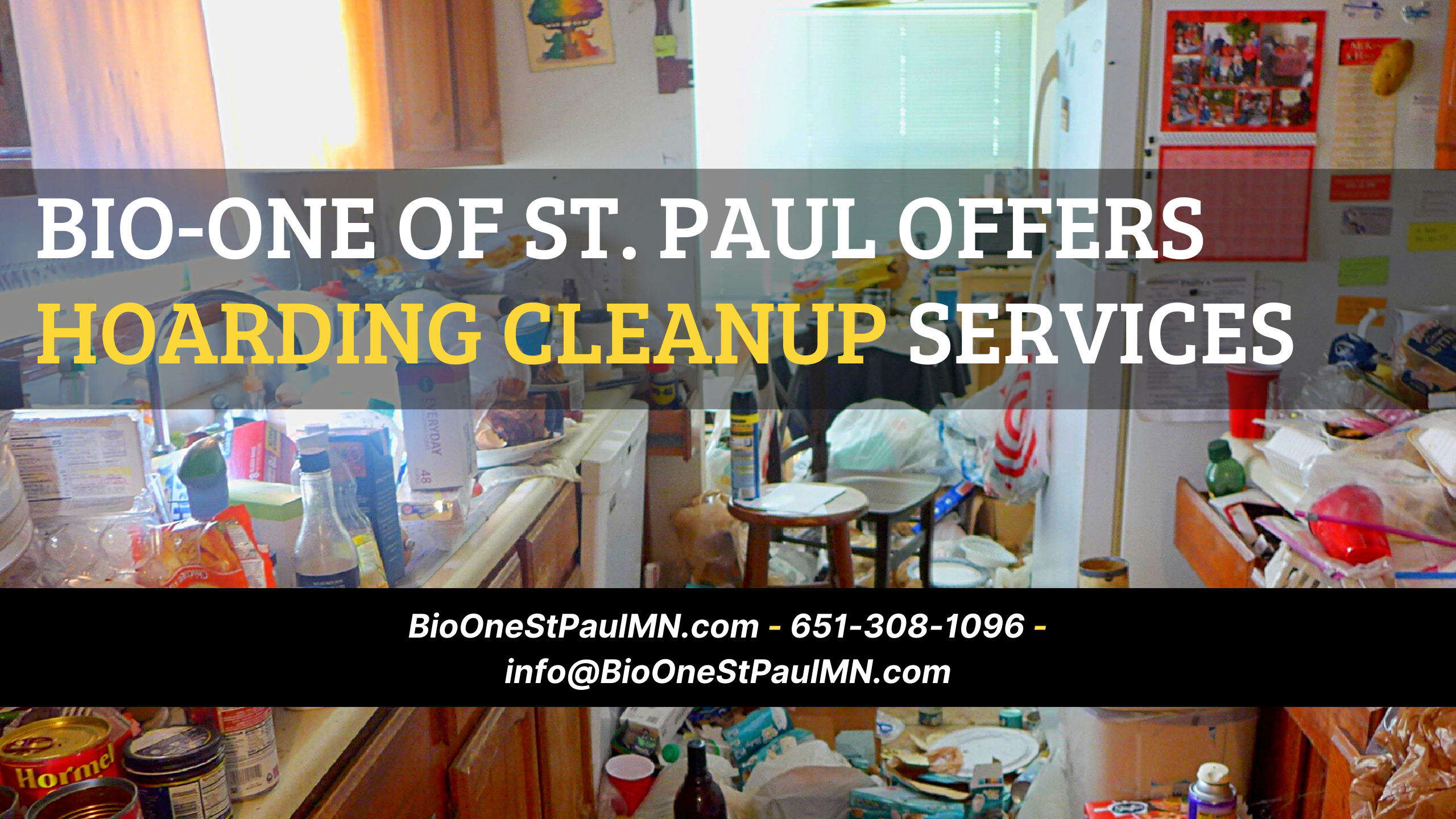 Bio-One of St. Paul offers Hoarding cleanup services - Available 24/7!